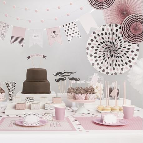 ROZETY dekoracyjne Sweets do słodkiego bufetu 3szt
