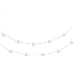 GIRLANDA z pomponików Różowa 2m