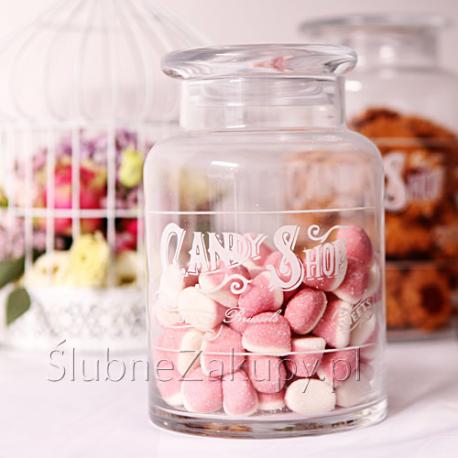 SŁÓJ na słodkości z napisem Candy Shop 22cm KONIEC SERII