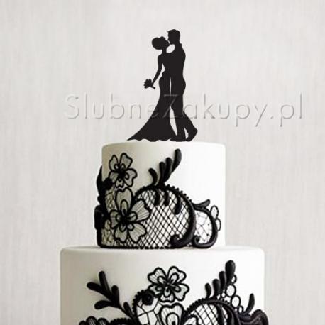 KONTUR dekoracyjny na tort Pocałunek Młodej Pary
