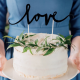 KONTUR dekoracyjny na tort LOVE Czarny
