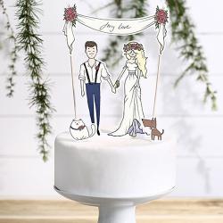 KONTUR dekoracyjny na tort My Love