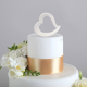 SERCE ceramiczne dekoracja tortu 14cm