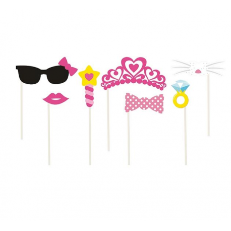 REKWIZYTY do fotek Pink Princess 7 elementów!
