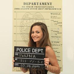 PLAKAT ślubny do zdjęcia policyjnego