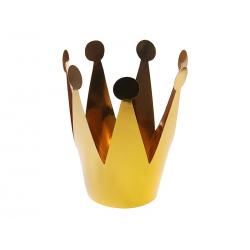 KORONY Złota Princess Papierowa 14cm 3szt