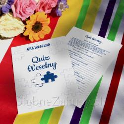 GRA WESELNA Quiz Weselny - super zabawa dla gości! KONIEC SERII