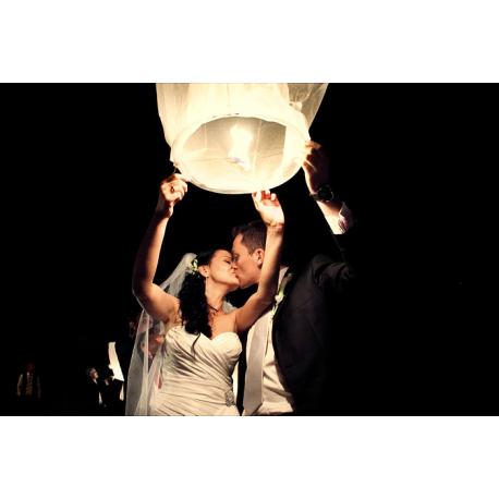 LAMPION Spełnionych życzeń biały ślubny !!!