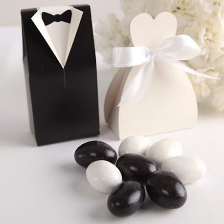 MIGDAŁY w lukrze i czekoladzie Czarno-Białe 1KG