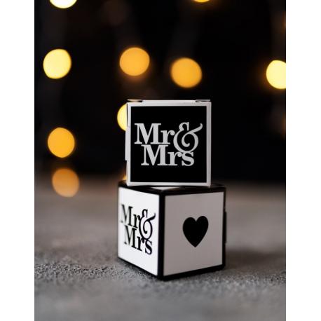 PUDEŁECZKA podziękowanie Mr&Mrs 10szt
