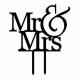 KONTUR DEKORACYJNY na tort Mr & Mrs
