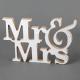 NAPIS drewniany Mr&Mrs NOWOCZESNY STYL 20x27cm