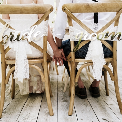 ZAWIESZKI na krzesła Bride & Groom