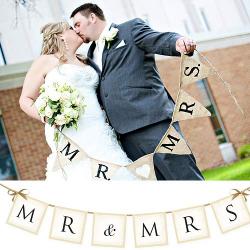 BANER dekoracyjny Mr & Mrs