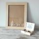 KSIĘGA GOŚCI weselnych drewniana w ramce 40x50cm (50serc, kuferek)