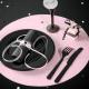 PODKŁADKI Sweet Pink pod ciasto/talerze 34cm 10szt
