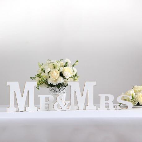 LITERY drewniane napis Mr & Mrs długość 80cm