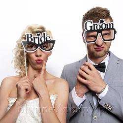 OKULARY do sesji foto Bride & Groom Koniec Serii