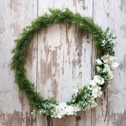 WIANEK zielony ze storczykami 60 cm