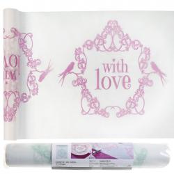 BIEŻNIK flizelinowy With Love różowy 30cmx5m