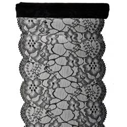 BIEŻNIK koronkowy Black Lace 18cmx3m
