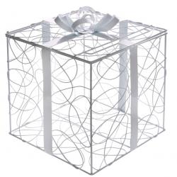 KLATKA dekoracyjna metalowa na telegramy Prezent