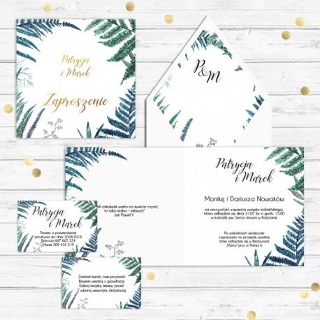 ZAPROSZENIE ślubne personalizowane Botanica