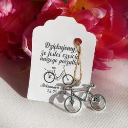 ZAWIESZKA Rowerek z bilecikiem personalizowana