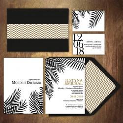 ZAPROSZENIE ślubne personalizowane Liść Palmowy