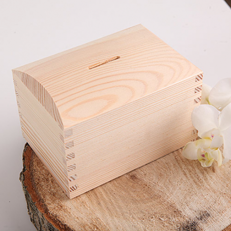 SKARBONKA drewniana na pieniążki Natural Wood OSTATNIA SZTUKA