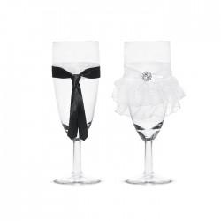 KIELISZKI do szampana Ona i On 2szt