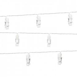LAMPKI LED przezroczyste klamerki 1,4 m