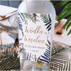 ZAWIESZKI na wódkę Botanica 10szt ZŁOTE LITERY