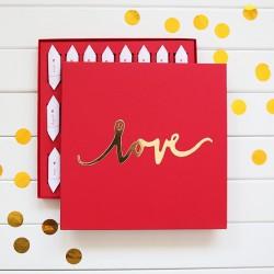 BOMBONIERKA z krówkami Love PODZIĘKOWANIE dla Gości
