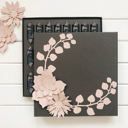 BOMBONIERKA z personalizowanymi krówkami Pastelowe Kwiaty PODZIĘKOWANIE dla Rodziców