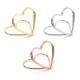 UCHWYT stojak do winietek w kształcie serca ZŁOTY 10szt.