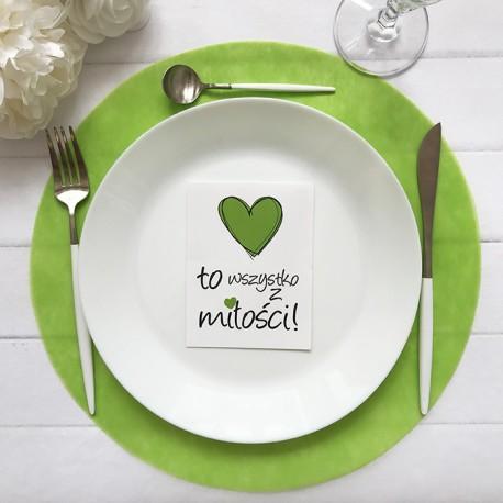 PODKŁADKI Sweet Green pod ciasto/talerze 34cm 10szt