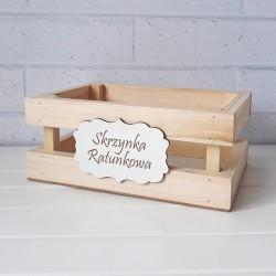 SKRZYNKA RATUNKOWA na wesele drewniana