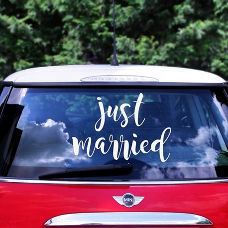 NAKLEJKA na ślubne auto Just Married