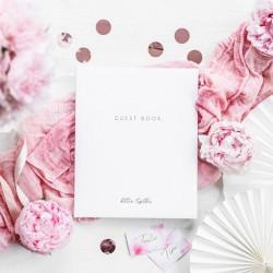 KSIĘGA GOŚCI weselnych Różowe Złoto