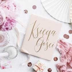 KSIĘGA GOŚCI weselnych Złoty Napis