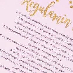 REGULAMIN WESELA Kol. Różowe Złoto