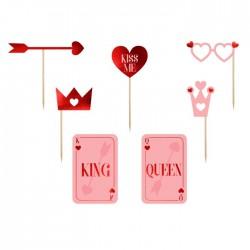 REKWIZYTY do sesji foto King&Queen Czerwone
