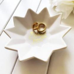 PODSTAWKA ceramiczna NA OBRĄCZKI Kwiat OMG biorę ślub