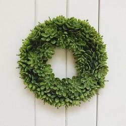WIANEK dekoracyjny Zielone Listki 20cm
