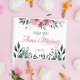 KSIĘGA GOŚCI weselnych Wiosenne Kwiaty BIAŁE/CZARNE KARTKI