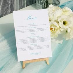 MENU weselne Kolekcja Pastelowa Akwarela