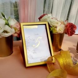 TABLICZKA na stolik z personalizacją Różowe Złoto (+ramka)