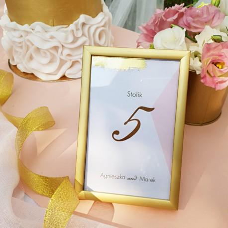 TABLICZKA na stolik z personalizacją Różowe Złoto