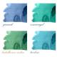 BOMBONIERKA z personalizowanymi krówkami Pastelowa Akwarela PODZIĘKOWANIE dla Rodziców